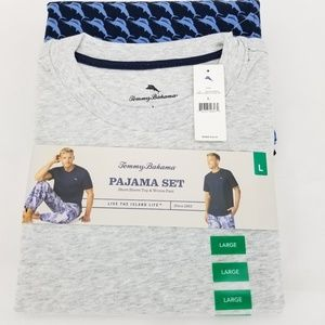 TOMMY BAHAMA MARLIN MADNESS Mens Large Grey Blue p